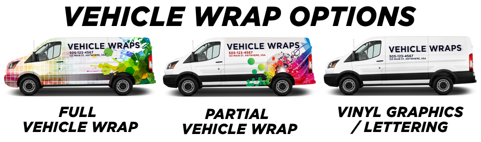 Inland Empire Vehicle Wraps & Graphics vehicle wrap options