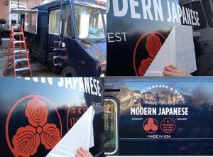 custom vehicle graphic installation