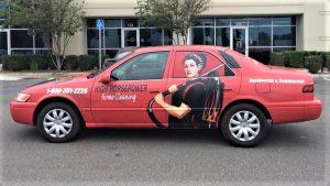 custom promotional car wrap